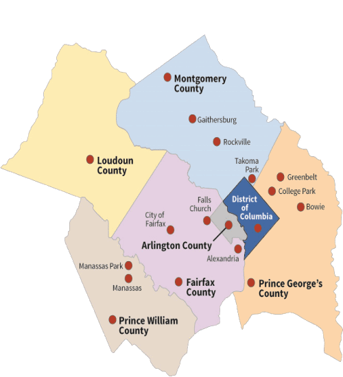 Map of the National Capital Region